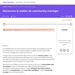 Découvrez le métier de community manager