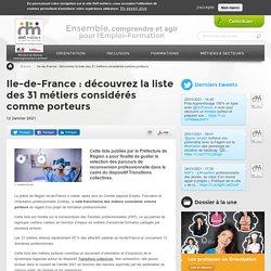 Ile-de-France : découvrez la liste des 31 métiers considérés comme porteurs