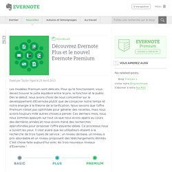 Découvrez Evernote Plus et le nouvel Evernote Premium - Evernote en français