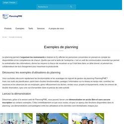 Découvrez nos exemples de planning avec PlanningPME