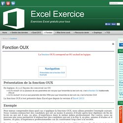 Excel exercice