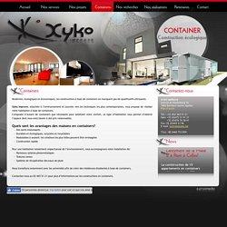 Découvrez les maisons en containers de Xyko Improve à Berchem-Sainte-Agathe