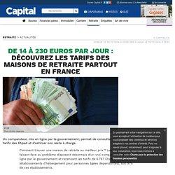 De 14 à 230 euros par jour : découvrez les tarifs des maisons de retraite partout en Fr - 15/12/16ance (Résidence Autonomie incl)