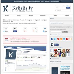 Découvrez les nouveaux Facebook Insights en 5 points : onglets, indicateurs, etc.