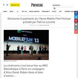 Découvrez le palmarès du 13eme Mobile Film Festival présidé par Patrice Leconte