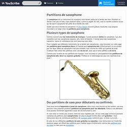 ♫ Découvrez nos partitions pour saxophone alto ou ténor