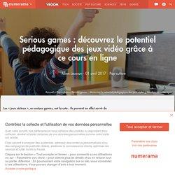 Serious games : découvrez le potentiel pédagogique des jeux vidéo grâce à ce cours en ligne