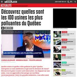 Découvrez quelles sont les 100 usines les plus polluantes du Québec