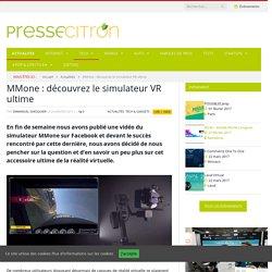 MMone : découvrez le simulateur VR ultime