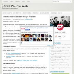 Des outils éditoriaux pour votre communication en ligne