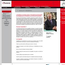 L'Academie Sciences et techniques comptables et financiers