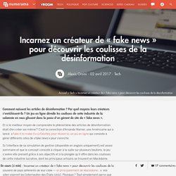 Incarnez un créateur de fake news pour découvrir les coulisses de la désinformation (en anglais)
