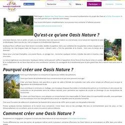 Découvrir les Oasis Nature, des espaces verts pour la protection du vivant