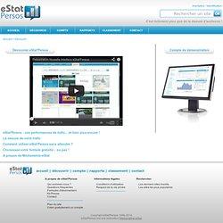Perso / eStat'Parade - Mesure, analyse et statistiques d'audience - classement de sites web