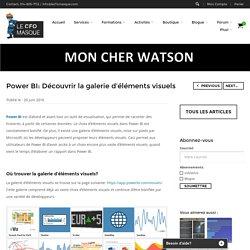 Power BI: Découvrir la galerie d'éléments visuels