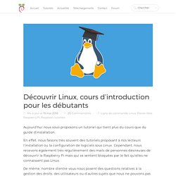 Découvrir Linux, cours d'introduction pour les débutants