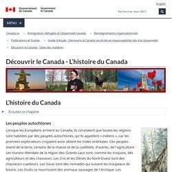 Découvrir le Canada - L'histoire du Canada