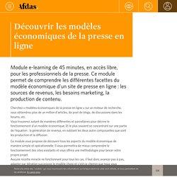Découvrir les modèles économiques de la presse en ligne