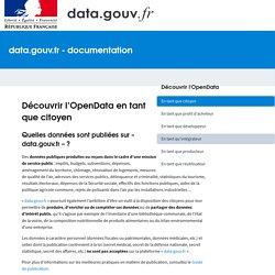 Découvrir l'OpenData en tant que citoyen