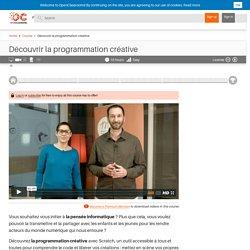 Découvrir la programmation créative