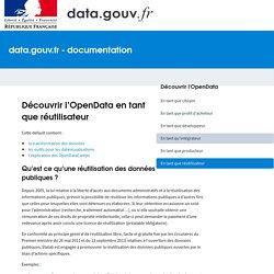 Découvrir l'OpenData en tant que réutilisateur