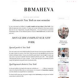 Découvrir New York en une semaine - bbmaheva