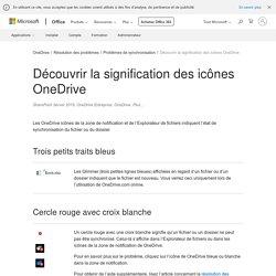 Découvrir la signification des icônes OneDrive - OneDrive