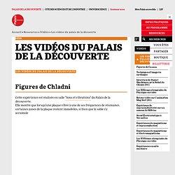 Les vidéos du palais de la découvrte - Vidéos - Palais de la découverte