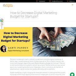 How to Decrease Digital Marketing Budget for Startups?- Sothics digital