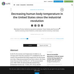 Decreasing human body temperature in the United States since the industrial revolution