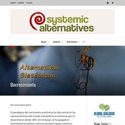 Decrecimiento – Systemic Alternatives