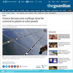 France decrees new rooftops must be covered in plants or solar panels