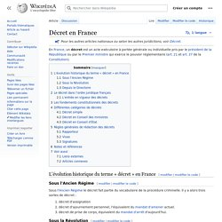 Décret en France