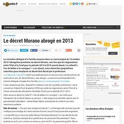 Le décret Morano abrogé en 2013