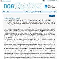 Artigo 19. Normas de convivencia. Decreto do DOG nº 17 do 2015/1/27