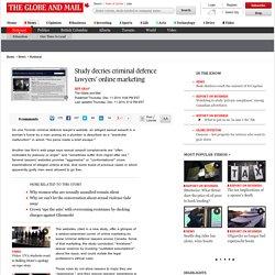 Study decries criminal defence lawyers' online marketing