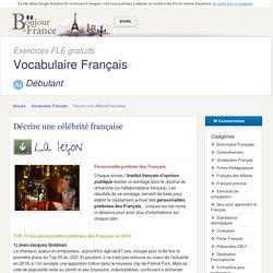 Décrire une célébrité française