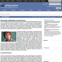 Décrochage : Mobilisation en Ile-de-France