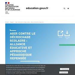 Agir contre le décrochage scolaire : alliance éducative et approche pédagogique repensée