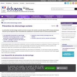 Lutte contre le décrochage scolaire - Prévention du décrochage scolaire