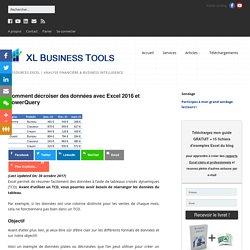 Comment décroiser des données avec Excel 2016 et PowerQuery