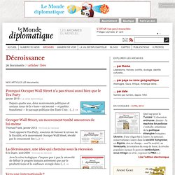 Décroissance - Le Monde diplomatique