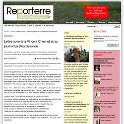 Lettre ouverte à Vincent Cheynet et au journal La Décroissance