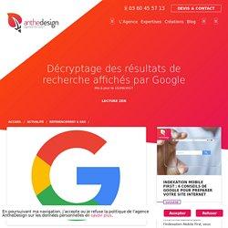 Décryptage des résultats de recherche affichés par Google - AntheDesign