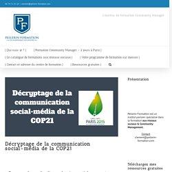 Décryptage de la communication social-média de la COP21