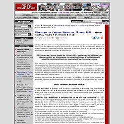Décryptage de l'accord Unedic du 22 mars 2014: régime général, annexe 4 et annexes 8 et 10