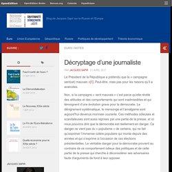 Décryptage d'une journaliste – RussEurope