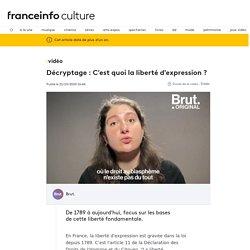 Décryptage : C'est quoi la liberté d'expression ?