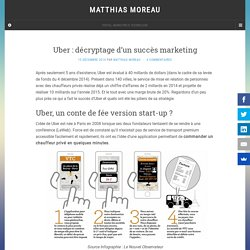 Uber : décryptage d'un succès marketing - Matthias Moreau