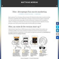 Uber : décryptage d'un succès marketing - Matthias Moreau